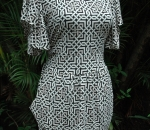 black and white link dress
